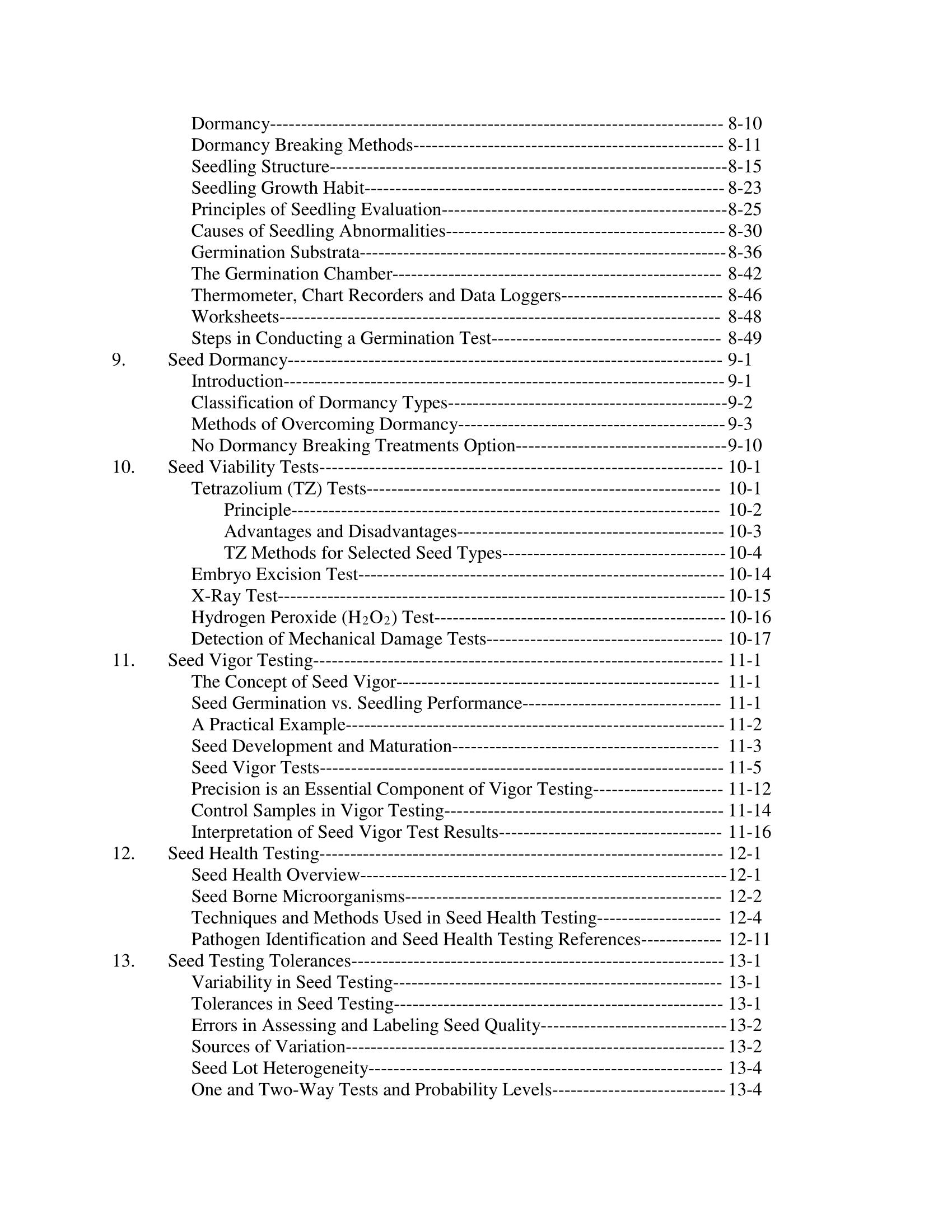 Seed Technologist Training Manual, 2018
